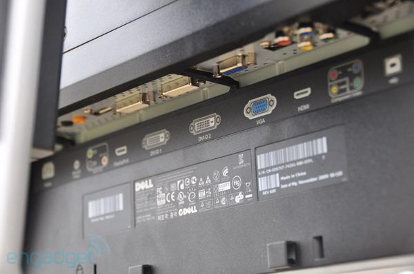 Монитор Dell Utrasharp U2711, Вид сзади