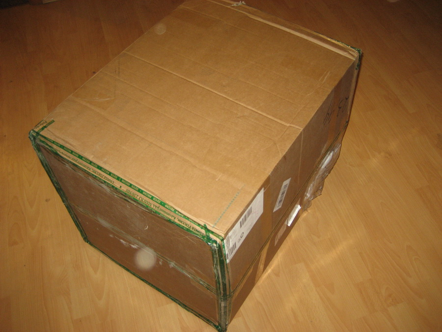 Посылка весом 24 кг доставленная почтой России