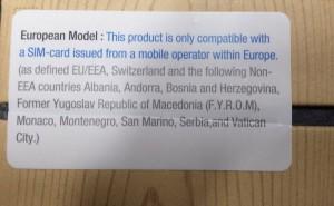 Наклейка, которой снабжаются новые смартфоны от Samsung'а