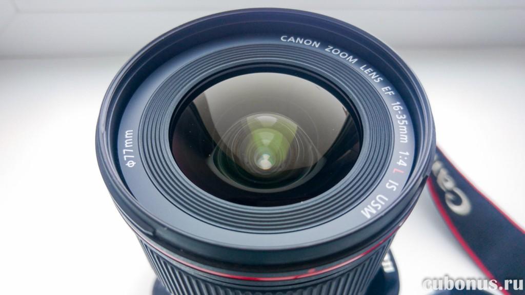 Использование объектива Canon EF 16-35mm 14L IS USM с фильтром
