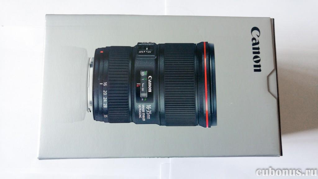 Объектив CANON EF 16-35 mm f4L IS USM в оригинальной упаковке