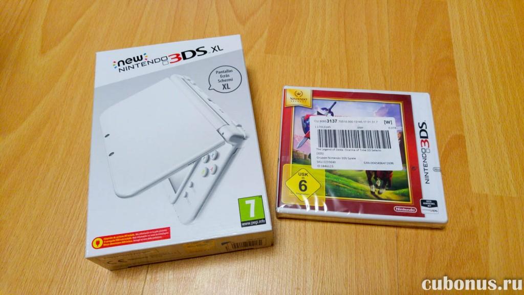 New Nintendo 3DS XL и игра Zelda с computeruniverse.ru