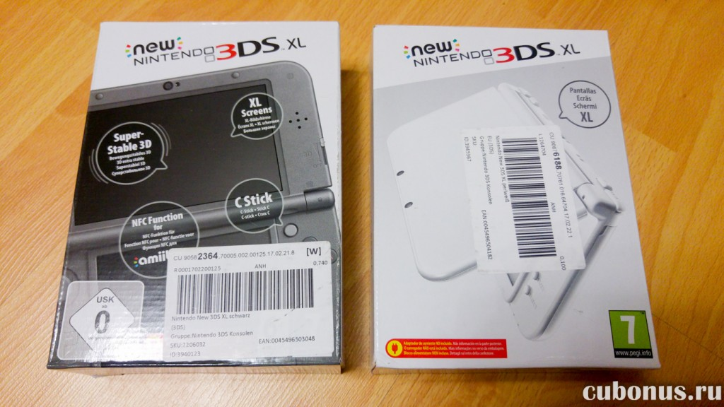 Nintendo New 3DS XL perlweiß и schwarz с computeruniverse