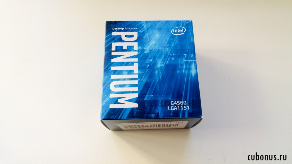 Intel Pentium G4560 2 core (Dual Core) CPU with 3.50 GHz, Да