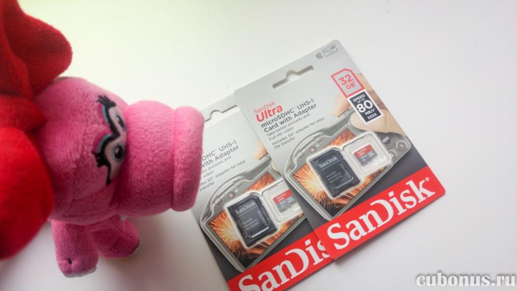 SanDisk Ultra microSDHC 80MBs SDSQUNC-032G-GN6IA